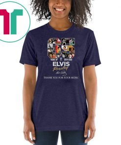 65 years of elvis presley 1954 2019 signature thank you for the memories shirt