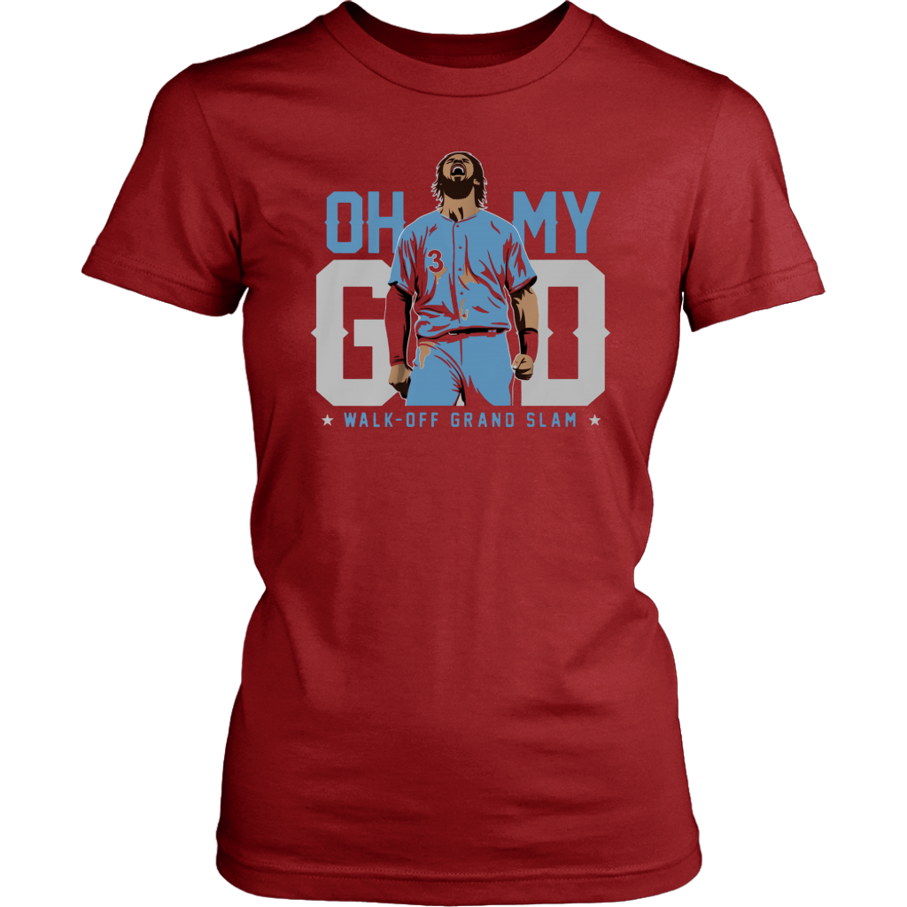 cheaper d1e71 6b6a6 Bryce Harper Shirt - Oh My God Walk-off Grand Slam 2019 Shirt - Breakshirts  Office