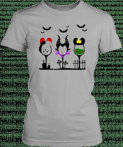 Disney villains cruella de vil maleficent evil queen wine halloween 2019 T-Shirt