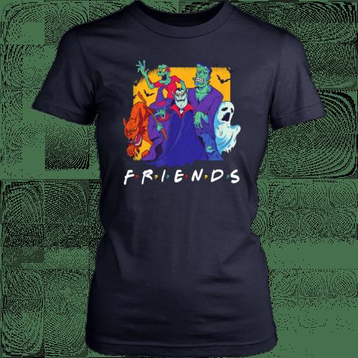 Dracula Werewolf Frankenstein Monster Bash Halloween Friends 2019 T-Shirt