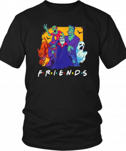 Dracula Werewolf Frankenstein Monster Bash Halloween Friends T-Shirt