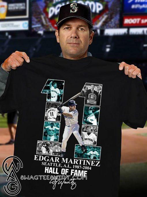 Edgar martinez 11 seattle al 1987-2004 hall of fame shirt