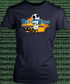 Jack Skellington Hug Dutch Bros Coffee Halloween T-Shirt