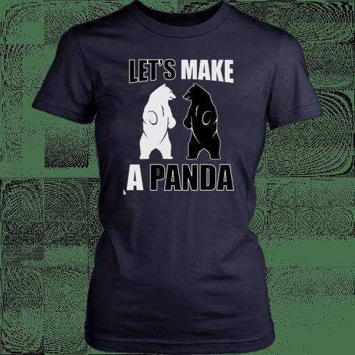 Let's make a panda Funny T-Shirt