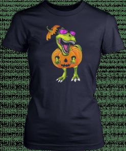 Original Halloween Trex Dinosaur Pumpkin Funny Gift For Men Women Shirt