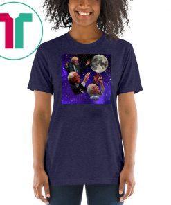 Three bernie sanders moon shirt