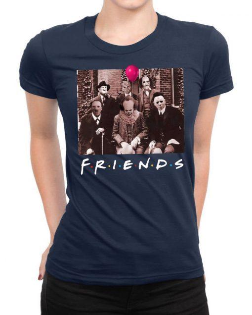 Friends Spooky Clown Jason Squad Halloween Horror Shirt
