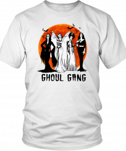 Vampira ghoul gang sunset halloween Tee Shirt