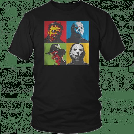 Zinko Leatherface Jason Voorhees Freddy Krueger Michael Myers Halloween T-Shirt