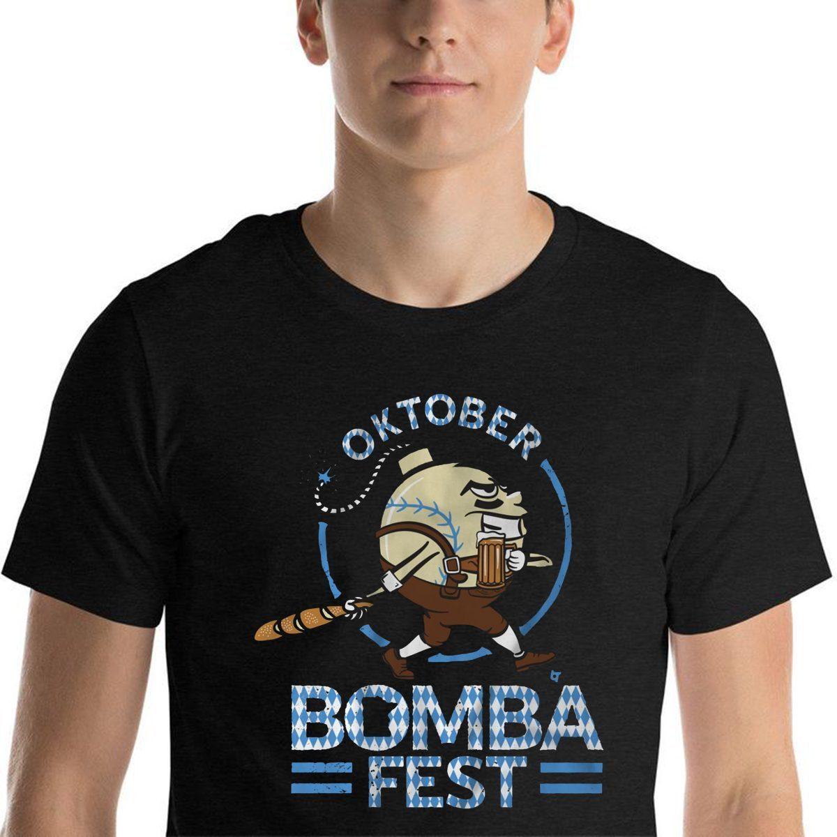 Max Kepler Bomba Squad Oktoberfest T-Shirt Black Cotton Men/'s Full Size