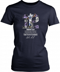 12 andrew luck thank you for the memories signature T-Shirt