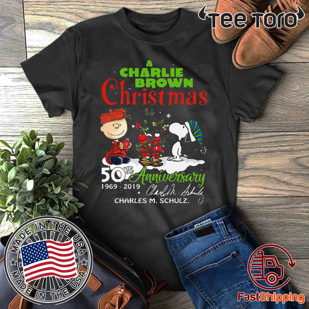 Charlie Brown Christmas 50th.A Charlie Brown Christmas 50th Anniversary 1969 2020 Signature Shirt Breakshirts Office