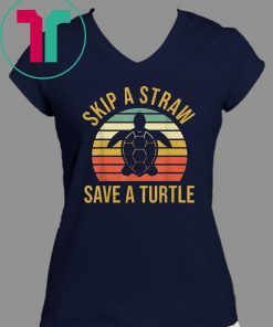 Buy Vintage Save Turtles Shirt Skip a Straw Save a Turtle Gift T-Shirt