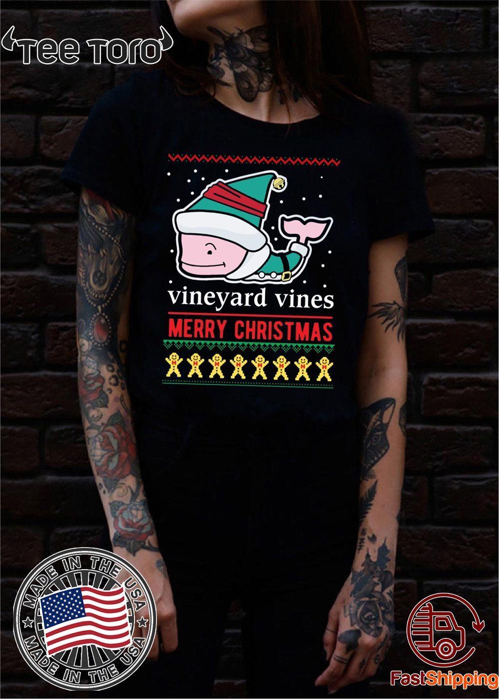 Vineyard Vines Christmas Shirt 2019.Vineyard Vines Merry Christmas For T Shirts Breakshirts Office