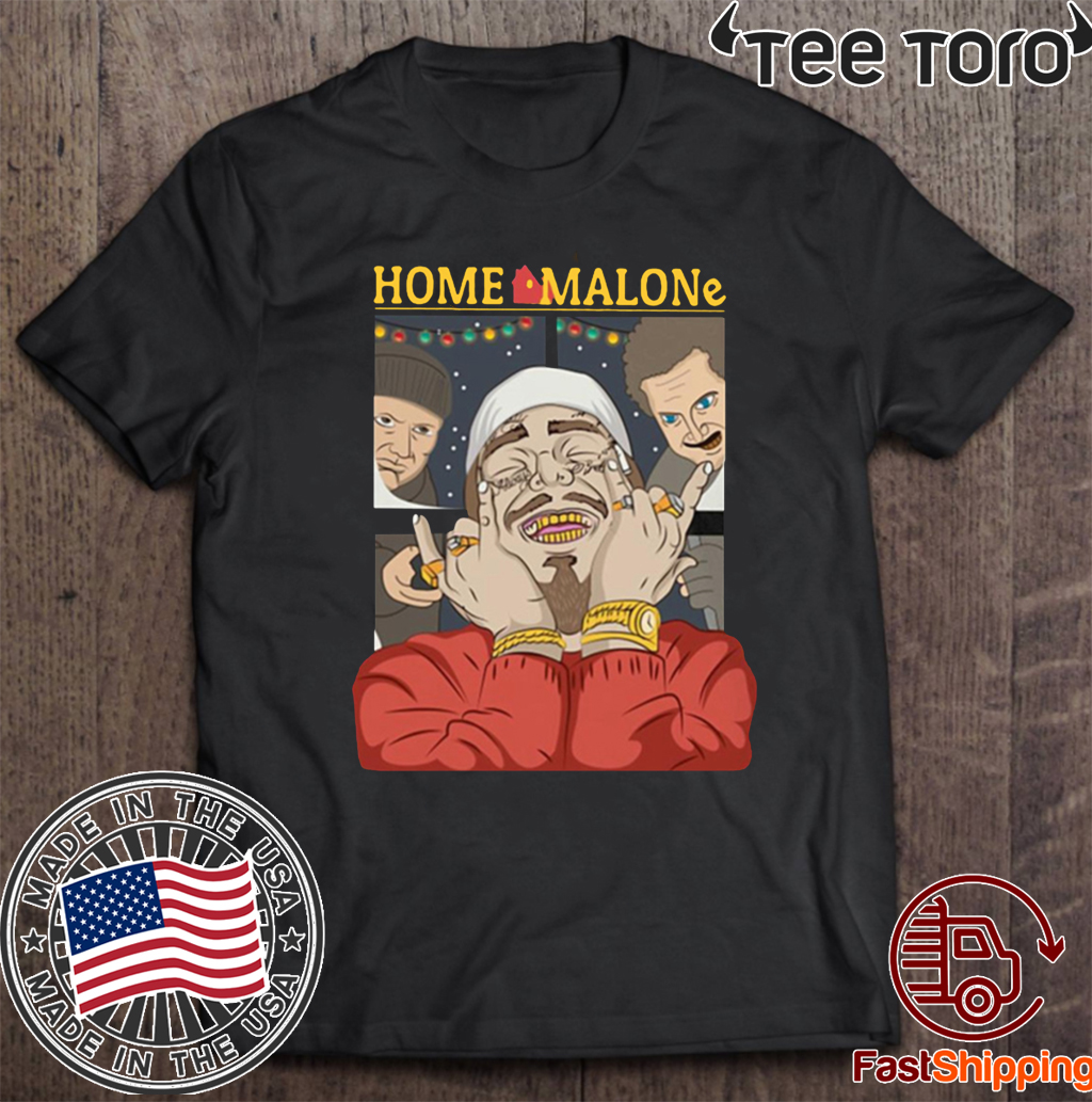 Post Malone Christmas Home Malone 2020 T-Shirt