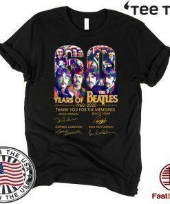 60 Years Of The Beatles T-Shirt Anniversary Tee 1960-2020 T-Shirt