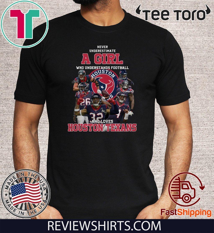 Houston Texans American Football Team Never Underestimate Fan Born In January T Shirt