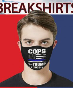 2020 Cops For Trump Face Mask US Face Mask Activated Carbon
