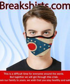 Ohio State US Flag Cloth Face Masks