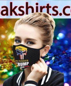 Donald Trump Flag US Cloth Face Mask - Skull Donald Trump 2020 Face Mask