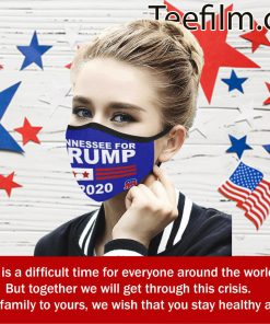 Tennessee For Trump Flag Cloth Face Mask