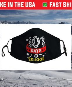 101 School Days Tshirt Dalmatian Dog 100th Sayings Face Mask