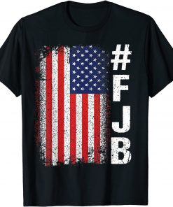 #FJB FJB Pro America US Distressed Flag F Biden Anti-Biden T-Shirt